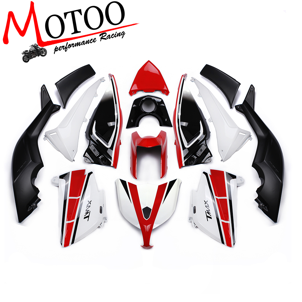 Motoo - FOR YAMAHA TMAX 2012-2014 Plastic ABS Injection Motorcycle Fairing Kit Bodywork Cowlings YELLOW BLUE WHITE RED GREEN for yamaha tmax530 2012 2014 plastic abs injection motorcycle fairing kit bodywork cowlings