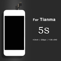 10PCS 100 Test For Tianma 5S LCD Screen Touch Display Digitizer Assembly Replacement With Frame Free
