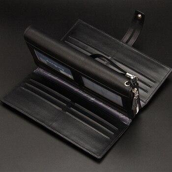 a50826f5bb90c Baellerry Iş Erkek Cüzdan Uzun Erkek Cüzdan Deri cep telefonu çanta para  kesesi Erkek Fermuar Çile el çantası Cüzdan Erkekler Hediye