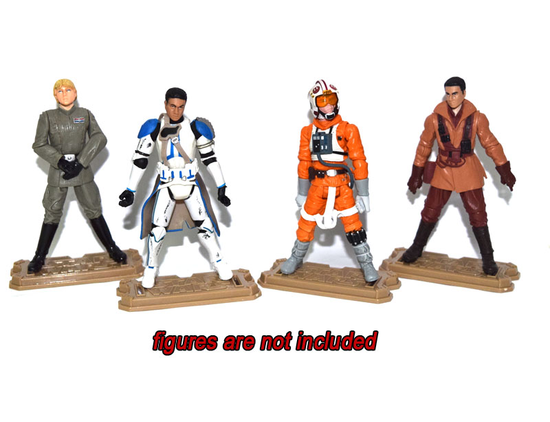 """Image 2 - 40 Pcs Display Stand Base Suit For Star Wars 3.75"""" Action Figureaction figure30 pcsfigure action -"""