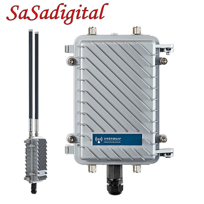 300 Мбит/с Открытый Беспроводной роутер CPE Wifi ретранслятор 500 МВт WiFi усилитель сигнала дальняя точка доступа маршрутизатор с 2 шт. антенной