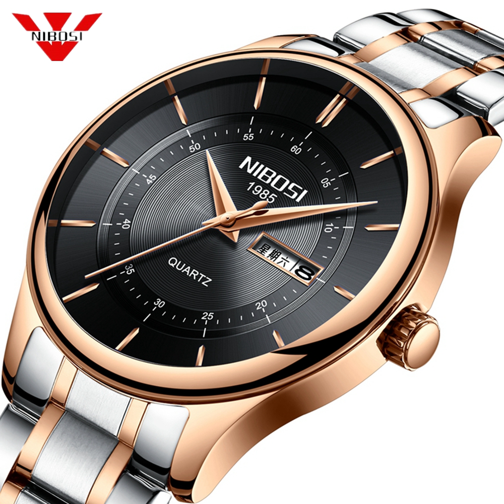 NIBOSI Luxury Brand Watches Men Sport Watch Simple Waterproof Date Quartz Men Military Wrist Watch Male Clock Relogio Masculino