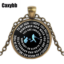 Baseball pendants promotion shop for promotional baseball pendants caxybb popular baseball pendant necklace mommy son gift metal chain necklace black sliver gold fashion letter necklace aloadofball Gallery