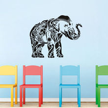 Free Shipping Indian Elephant Ganesha Pattern Wall Sticker Vinyl Home Decor Decals Removable Art Wallpaper Y-509