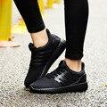 De las mujeres Zapatos Casuales Plana Chaussure Femme de Malla de Aire Respirable Cómodo Superestrella Entrenadores Tenis Feminino Red Bottom Gumshoes