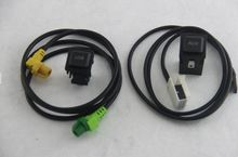 Free Shipping  VW RCD510+310/315 AUX USB Switch with Wire Cable For Golf MK6 5KD 035 726 A and L5KD 035 724 A