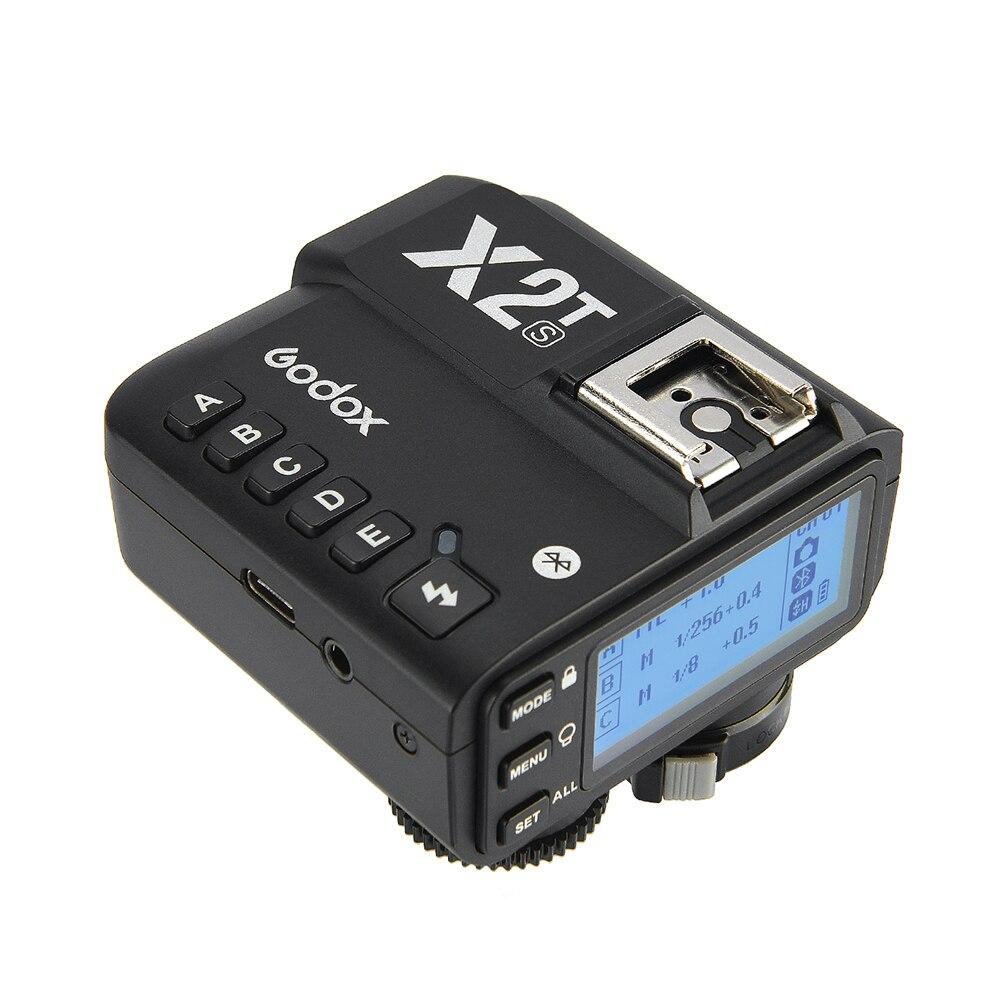 Godox X2t-s Ttl 2,4g беспроводной триггер вспышки 1/8000s дистанционный передатчик Hss для Sony Dslr камера кнопка спуска затвора