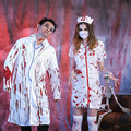 Anime Bloody Terror Doctor Theme Female Nurse Dress Halloween Costume For Men Women Cosplay Scary Costumes Terror Party Ghost