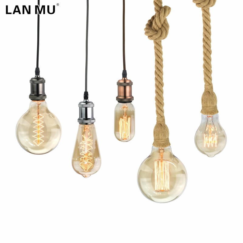 LANMU Retro Lamp E27 220V Vintage Edison Bulb 40W Ampoule Vintage Light Bulb Edison Lamp Incandescent Light Filament Edison Bulb