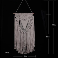 Tassel Bohemian Macrame Woven Wall Hanging Tapestry Art Home Knitting Decoration