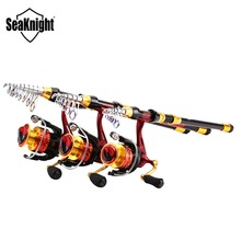 SeaKnight REAVER Carbon 1.8m-3.6m Rods Reels Combo +FENICE 2000-4000 5.2:1 10+1BB Spinning Fishing Reel Saltwater Fishing Tackle