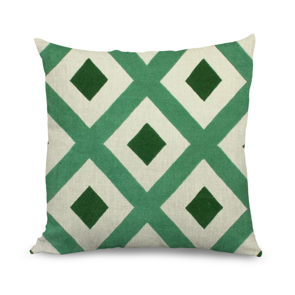 Wholesale 18x18 inch Sofa Cushion Cove Geometric Design Throw Pillow Covers with Zipper