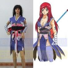 Nueva personalizada Anime Fairy Tail Erza Scarlet Cosplay Costume set completo envío gratis