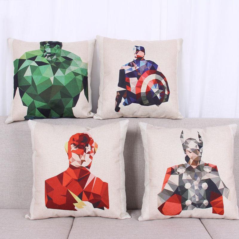 Avengers Batmen Creative Car Chair Office Seat Back Cushion Best Selling Home Decorative Throw Pillow Pillowcase Cojines