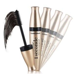 Image 3 - 4D fiber silk mascara waterproof natural thick curl eyelash silicone brush head professional makeup mascara