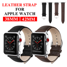 Giausa New Vintage Leather Watchbands Watch Accessories For Iwatch Bracelet Apple Band 42mm 38mm Series Strap