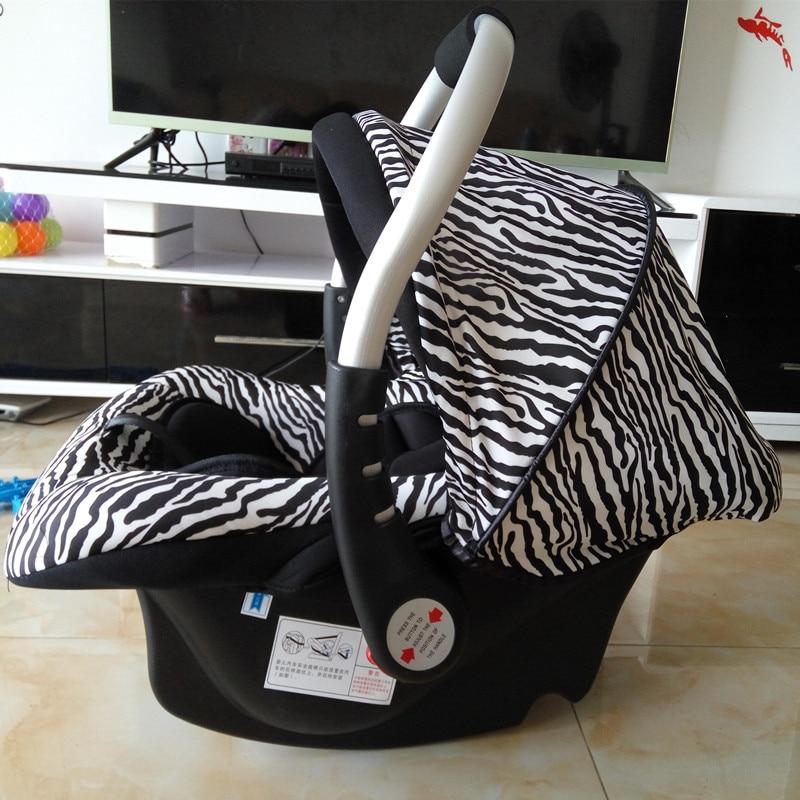 Svartvita Stripes Barnsäte Newbore Zebra Mönster Baskert Bil - Barnsäkerhet - Foto 5