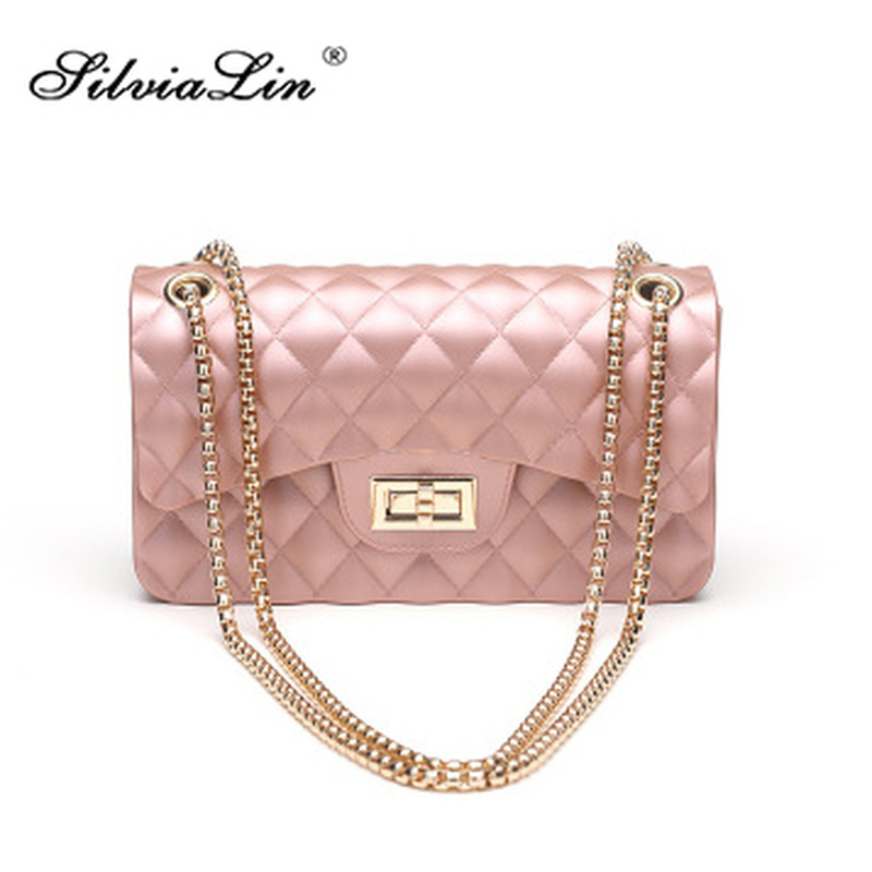 Silvialin Women Bag Handbags QUILTED Messenger-Bags Jelly-Pack Small Vintage Designer