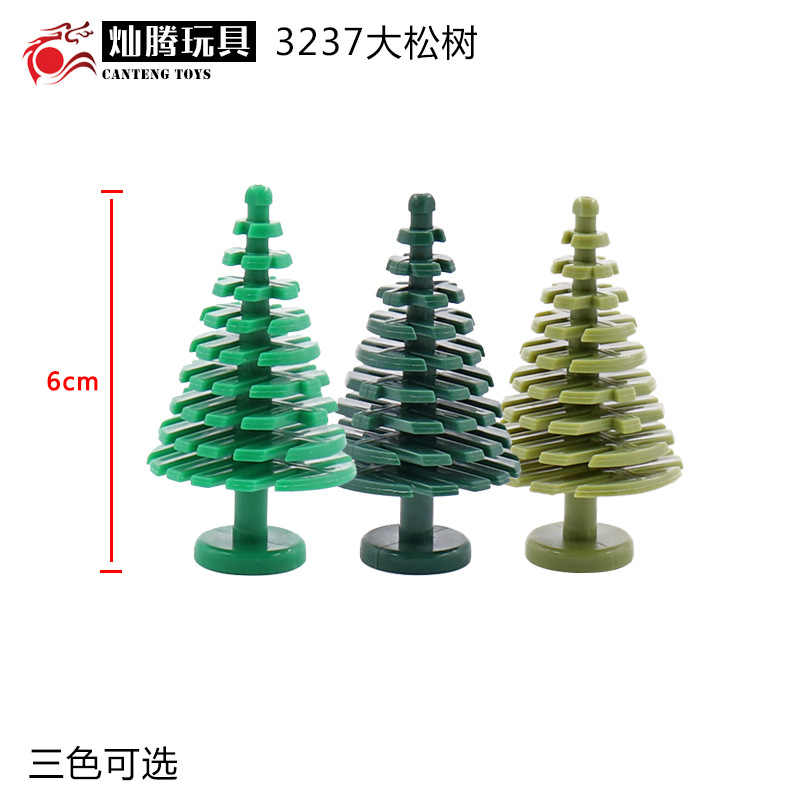 Mailackers Military Multiple Scenes Series Components Big Christmas Tree Pine MOC DIY Building Blocks Kid Toy With Legoings City
