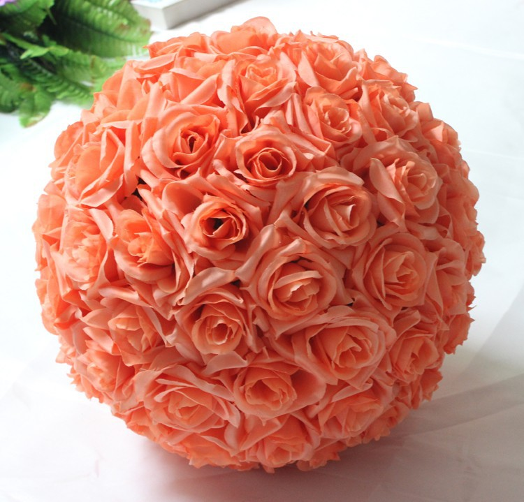 10inch (25cm) Wedding Kissing Balls Pomanders Romantic Silk Flower Kissing Balls Factory Wholesale (6)