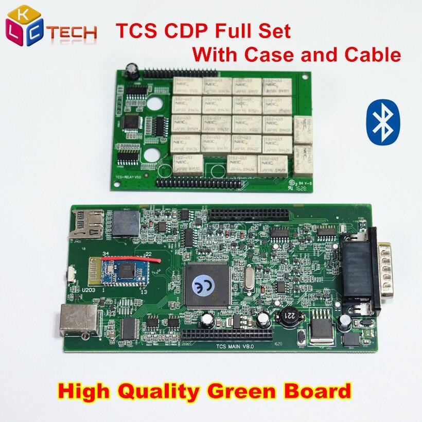 Prix pour Haute Qualité Vert PCB TCS CDP Pro Plus Bluetooth 2014R2/2015R1 Logiciel Email Activer Pour Voitures Camions Outil De Diagnostic
