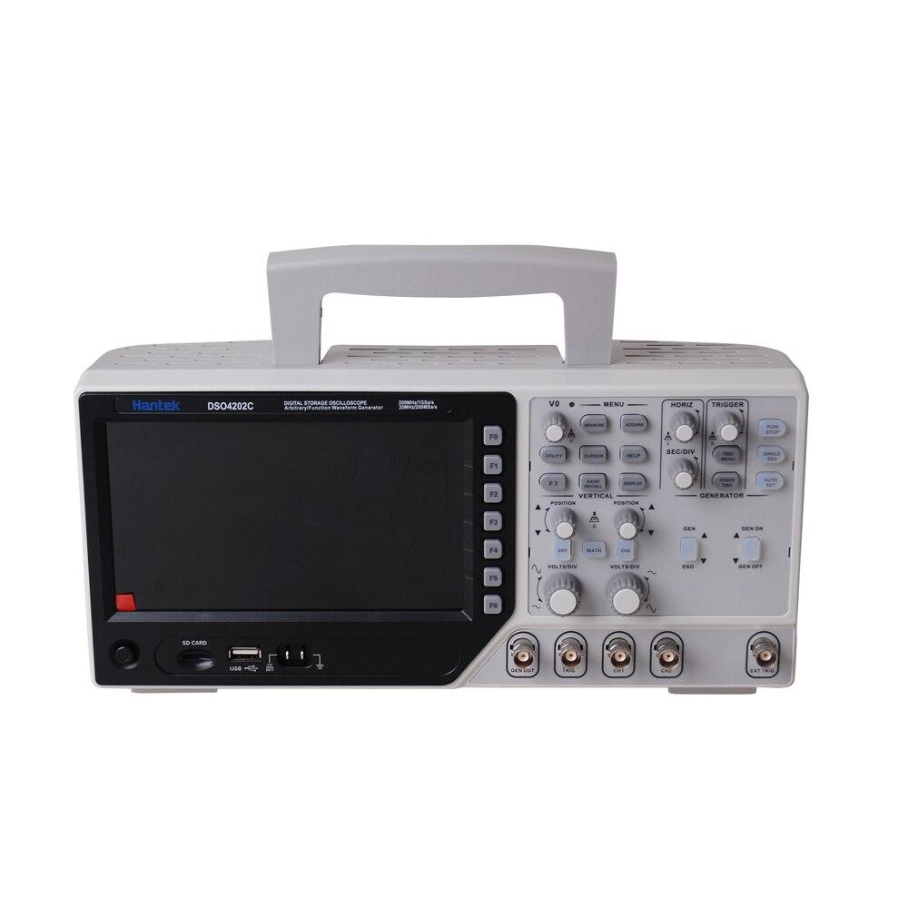 Hantek dso4202c 2 canais osciloscópio digital 1 canal arbitrário/função forma de onda gerador 200 mhz 40 k 1gs/s