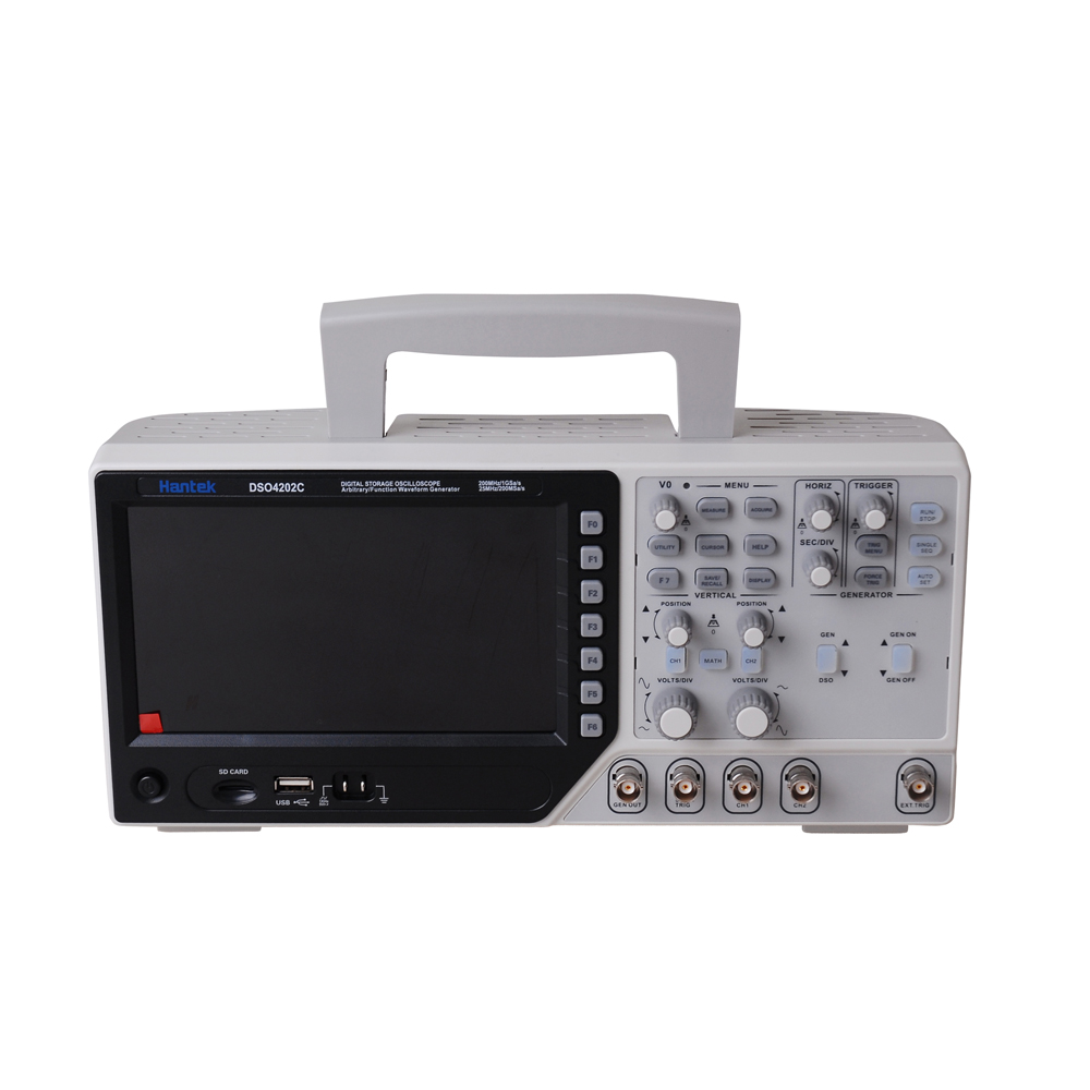Hantek DSO4202C 2 Channel Digital Oscilloscope 1 Channel Arbitrary/Function Waveform Generator 200MHz 40K 1GS/s new dso5200 digital virtual oscilloscope hantek dso 5200 portable oscilloscope usb 200mhz 250ms s 2 channel