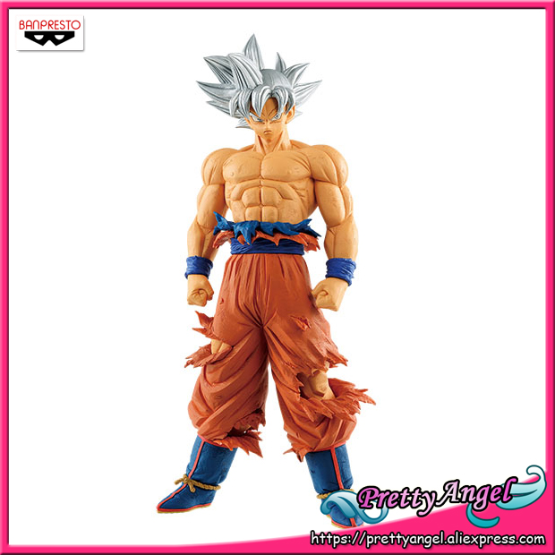 PrettyAngel-Genuine Banpresto Resolution of Soldiers Grandista Vol.6 Dragon Ball SUPER ULTRA INSTINCT SON GOKU Collection Figure sale original banpresto ros resolution of soldiers grandista collection figure super saiyan son goku gokou dragon ball z 28cm