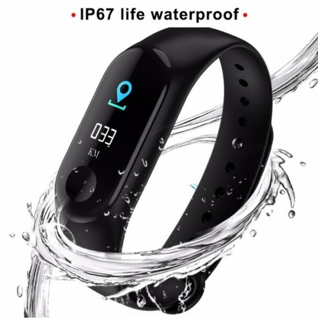 M3 inteligente pulsera Color IPS pantalla inteligente reloj de las mujeres de los hombres IP67 impermeable sangre presión oxígeno rastreador de actividad