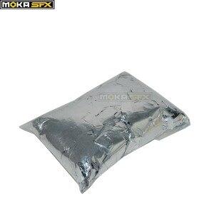 Image 2 - 3 кг/лот ткань конфетти бумага Прямоугольник Серебро Конфетти для CO2 Jet конфетти машина