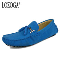 Size 38 45 Mens Casual Shoes Tassel Shoes Fashion Brand Design Men Shoes Suede Soft Leather