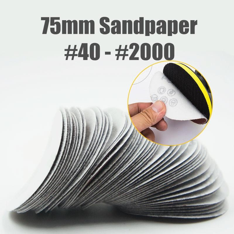 40-2000 Grit 3 Inch 75mm Sander Disc Sanding Disk Sand Paper Abrasive Tools