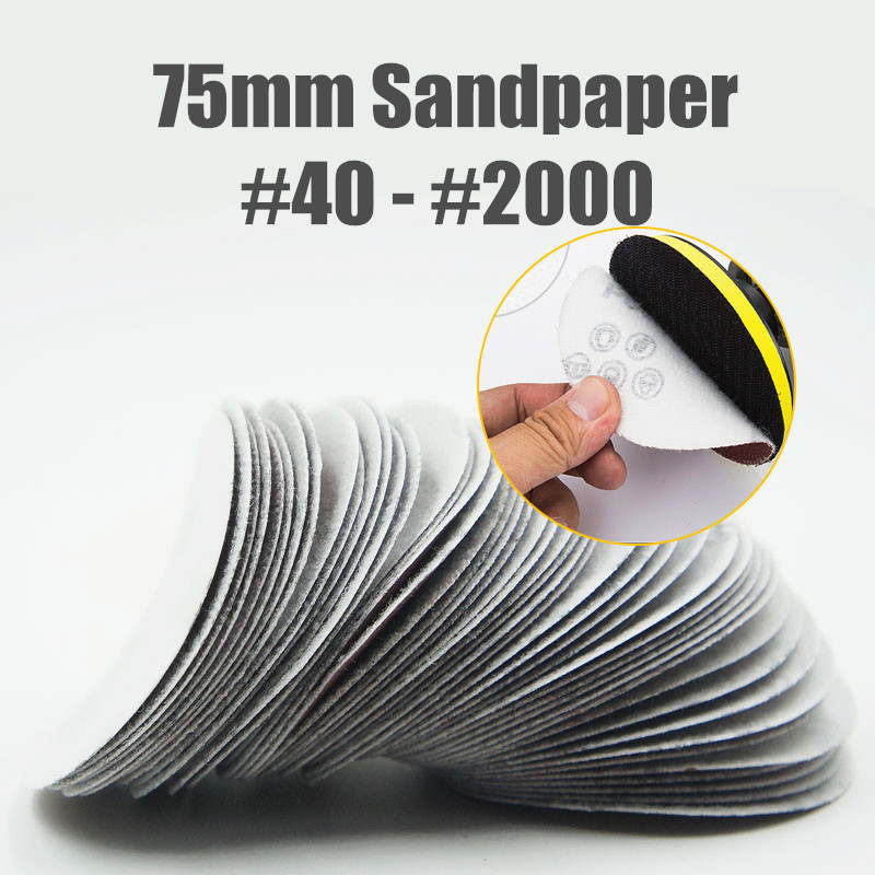 40-2000 Grit 3 Polegada 75mm Disco Sander Disco Lixa Areia Papel Ferramentas Abrasivas