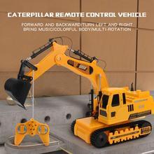 Excavadora de aleación con mando a distancia para niños y adultos, vehículo de juguete con Control remoto, 2,4 GHz, 12 canales, 1:18