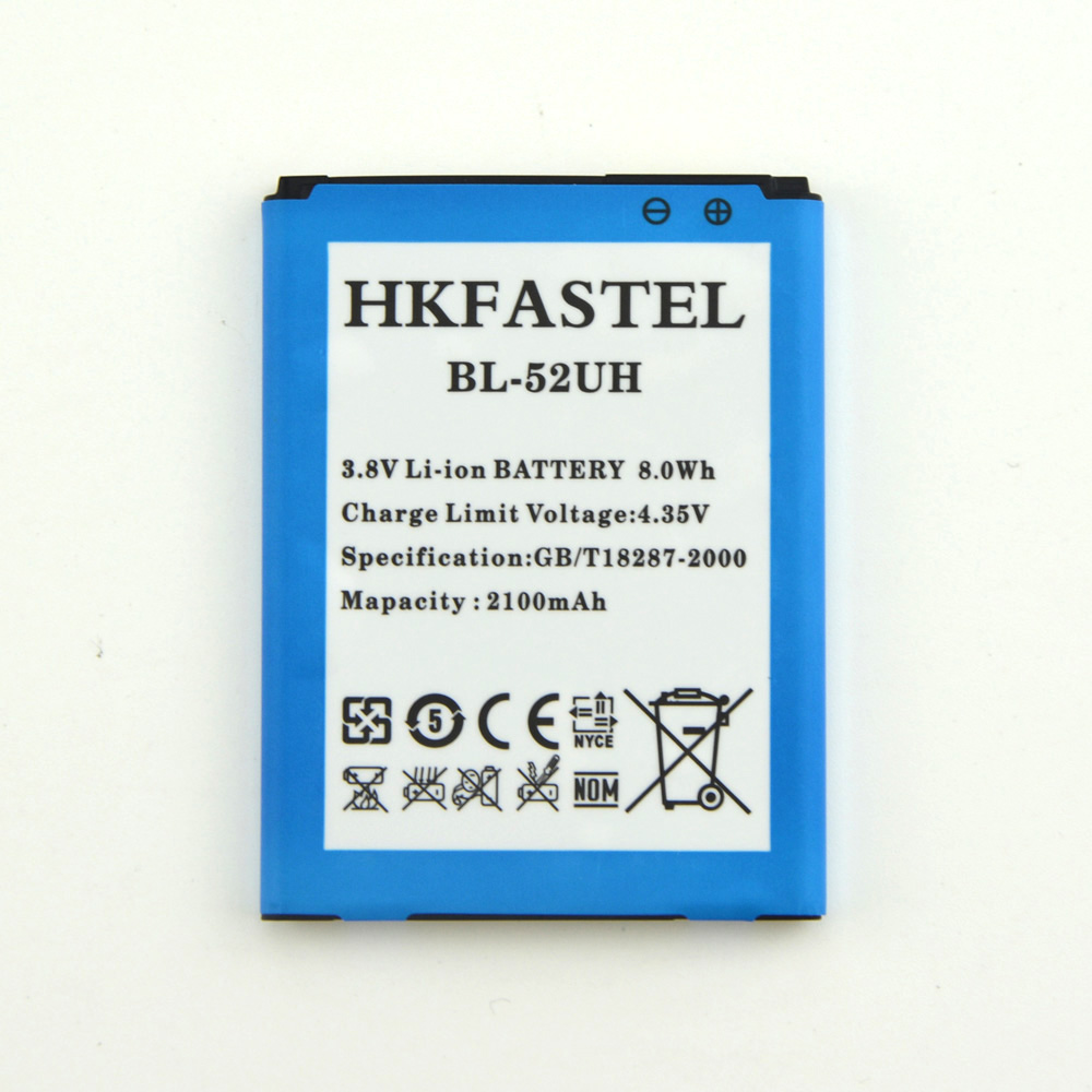 HKFASTEL New BL-52UH 52UH Li-ion <font><b>Battery</b></font> For <font><b>LG</b></font> Optimus Series III L65 L70 D325 D320 D285 D280 Mobile Phone <font><b>Batteries</b></font> <font><b>2100mAh</b></font> image