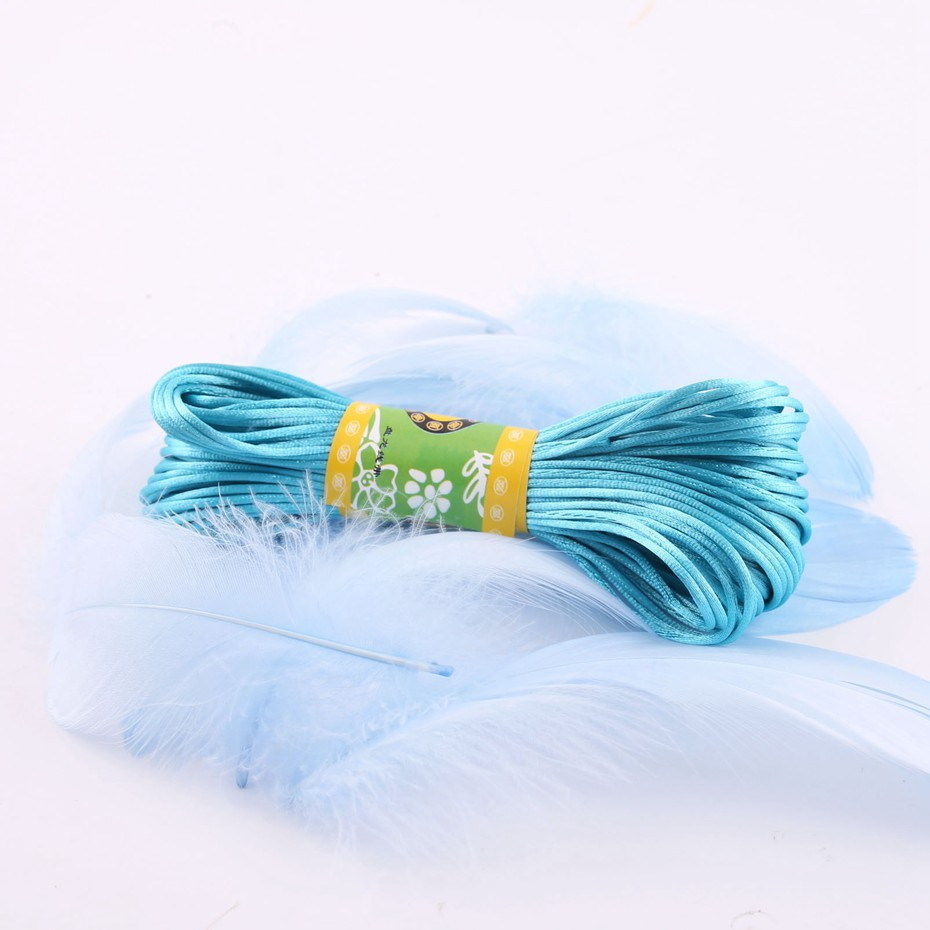 High Quality Durable 20 Meters 1mm Waxed Thread Cord For DIY Handicraft Tool Hand Satin Thread Color Random