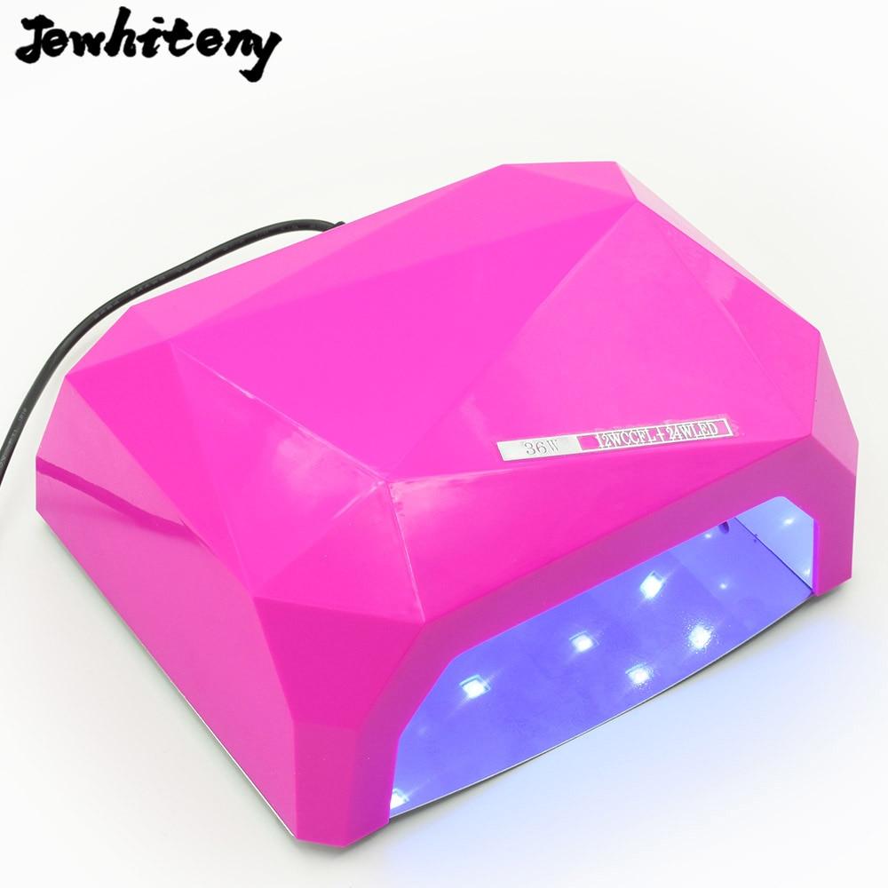 Jewhiteny 36W UV LED Lamp Nail Dryer Diamond Shaped LED Nail Lamp Curing for UV Gel Nails Polish Nail Art Tool Sun led light