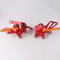 Motorcycle Adjustable Shift Brake Rear Set Footpegs Foot Rest Peg For Aprilia RSV4 2009 2014 Spare