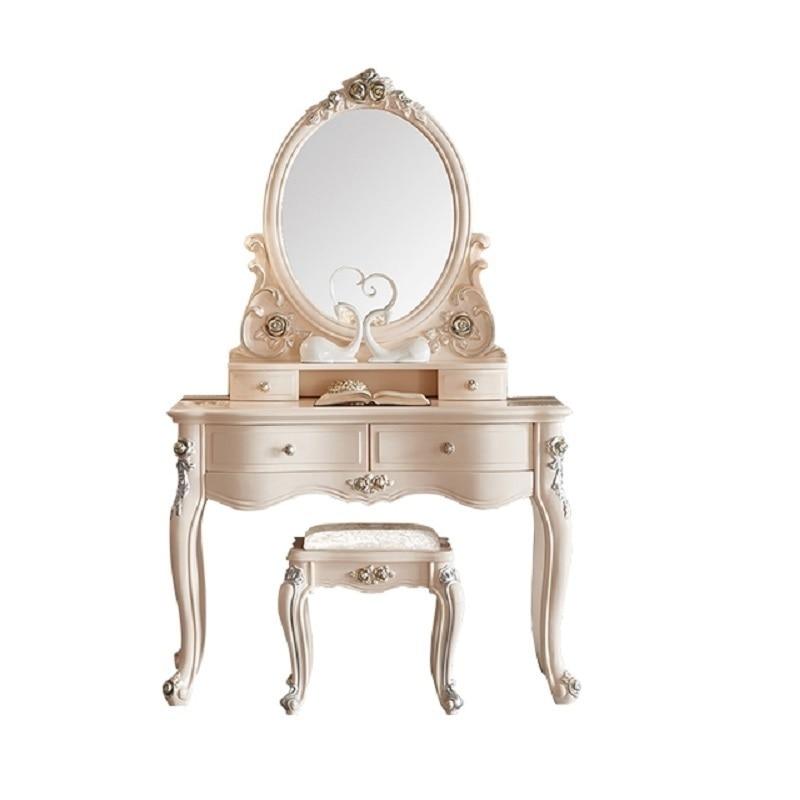 Maquiagem Mesa Maquillaje Toaletka Mueble De Dormitorio Cabinet European Wood Penteadeira Table Bedroom Furniture Korean Dresser