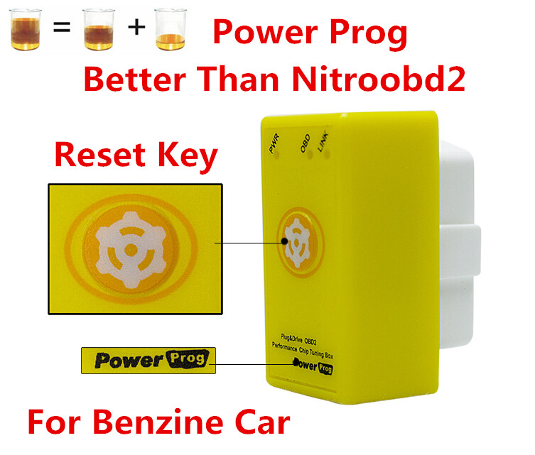 Prix pour Code Scanner OBD Chip Tuning Box NitroOBD2 avec De Réinitialisation De L'alimentation Prog pour Benzine De Voiture Chip Tuning Box Plug Lecteur Nitro OBD2 PowerProg