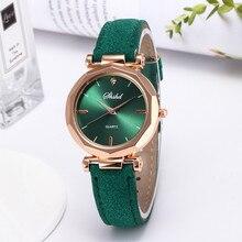 Модные женские кожаные повседневные часы, Роскошные Аналоговые Кварцевые Кристальные наручные часы, модные повседневные женские наручные часы, роскошные платья* A