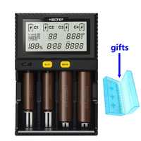 Miboxer C4 inteligente Universal LCD Li-Ion, NiCd NiMh AA AAA 10440, 14500, 16340, 17335, 17500, 18490, 17670, 18650 cargador de bateria