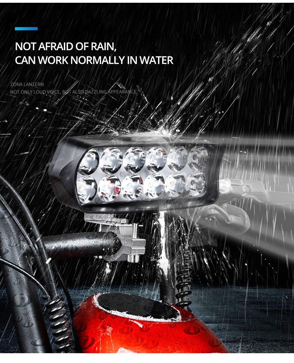 Universal Motorcycle Headlight LED 12W 18W 24W DC 9-85V LED Headlight Motorbike 8 12 16LEDs Samsung Chip Work LED Headlights  (9)