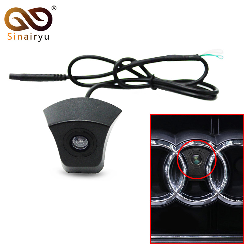 Sinairyu CCD HD night vision front view <font><b>Audi</b></font> forward logo <font><b>camera</b></font> can be used for <font><b>Audi</b></font> A1 A3 A4 A5 A6 A7 <font><b>Q3</b></font> Q5 Q7 TT front <font><b>camera</b></font> image