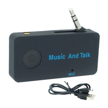 Dual 3.5mm Audio Bluetooth Receiver Music Adapter For Car AUX Speaker Headphone EY