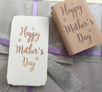 Happy Mother Day Rubber Wooden Stamps For Scrapbooking Carimbo Postcard Or Bookmark Scrapbooking Stamp 6 4cm
