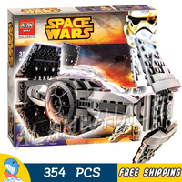 354pcs Space Wars The Force Awakens TIE Advanced Prototype 10373 Model Building Blocks Toys Kit Set