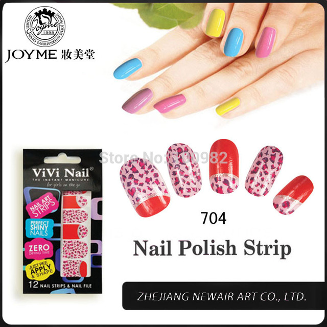 New Hot Design Trendy Leopard Nail Art Wraps Stickers With Adhesive