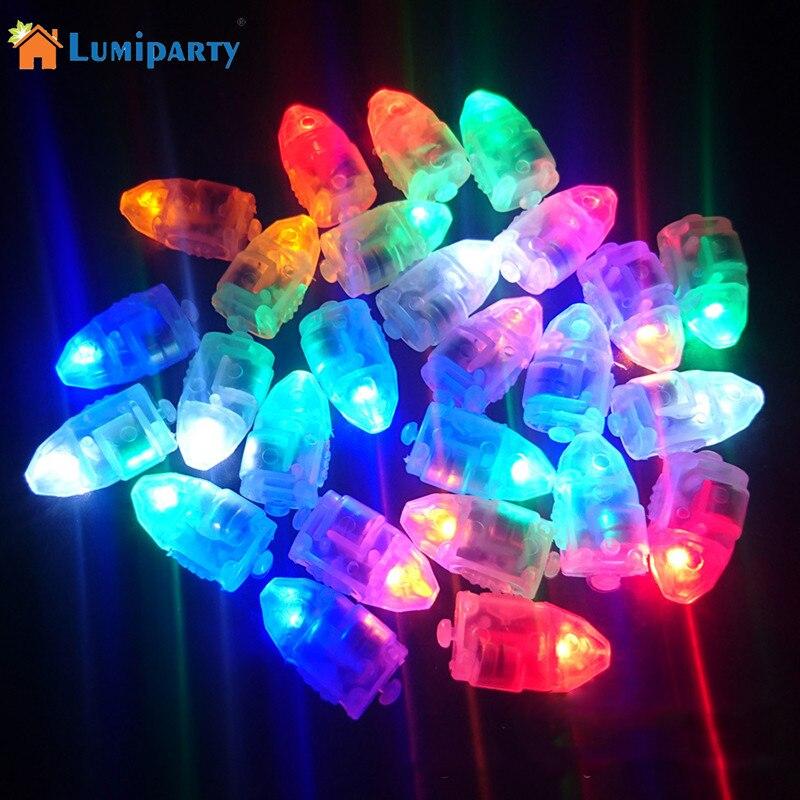LumiParty 10 PCS Mini LED Balloon Light Blinking Light for Paper Lantern Balloon Light RGB Lamps Party Wedding Decoration