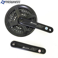 prowheel 6/7/8 Speed MTB Mountain Bike Crankset Chain Wheel 22 32 42T Bicycle Crank Chainwheel